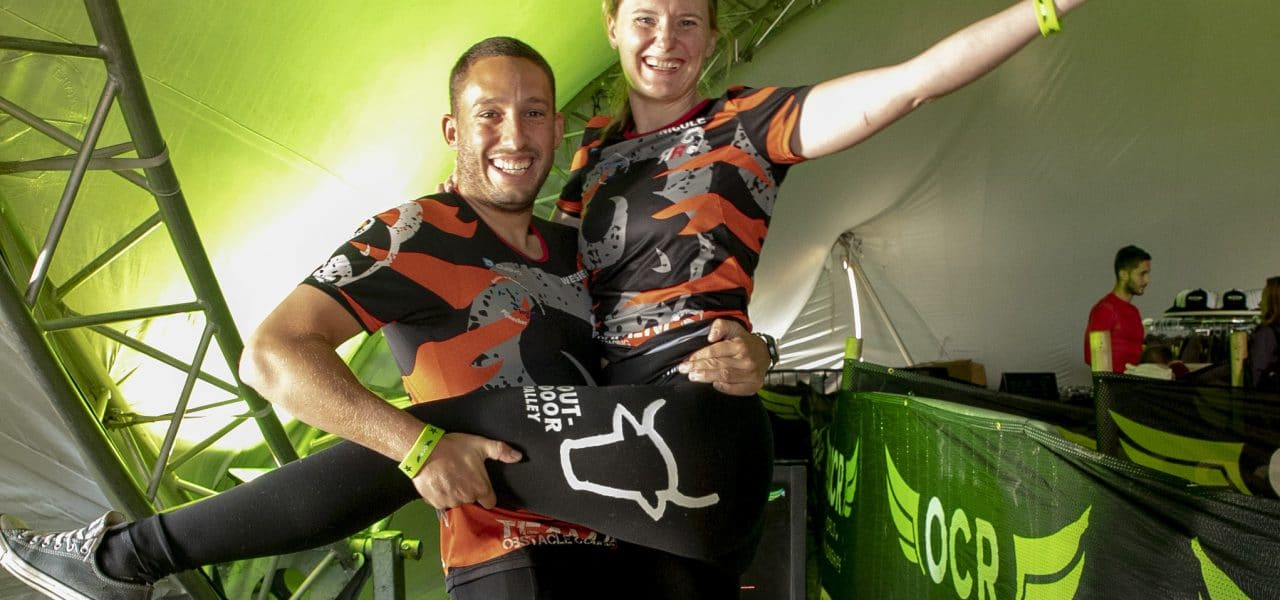 Evaring: Nicole en Wesley bij het WK Obstacle Running!